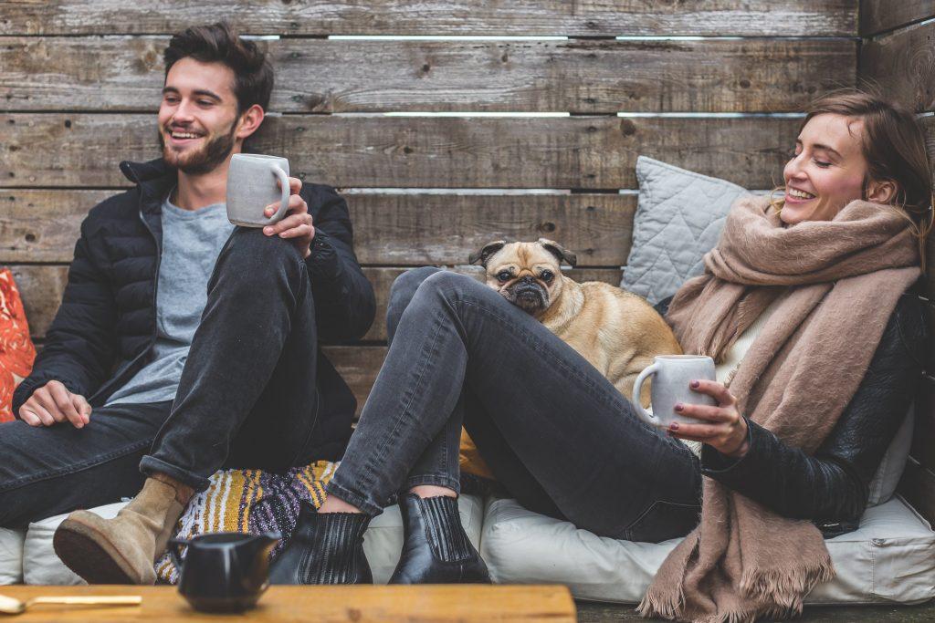 smiling-man-woman-pug